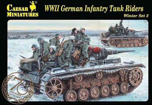 Caesar Miniatures CMH079 German Infantry Tank Riders -Winter Set.2/Greatcoat