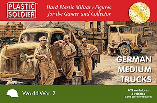 Plastic Soldier WW2V20020 German medium trucks